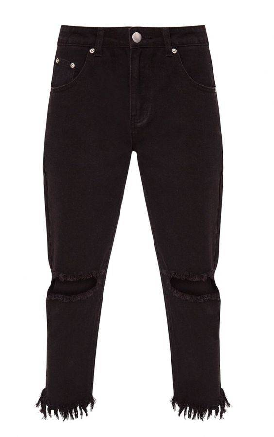 Black trousers with high waist