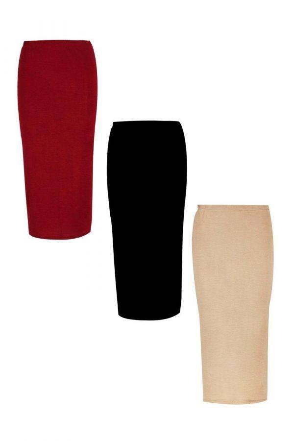 Medium-length tight skirt