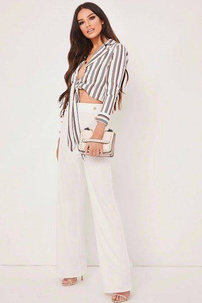 A white striped blouse