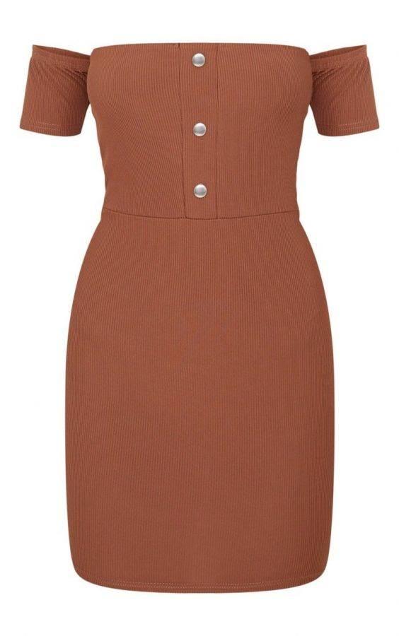 Dress of Sholder Brown