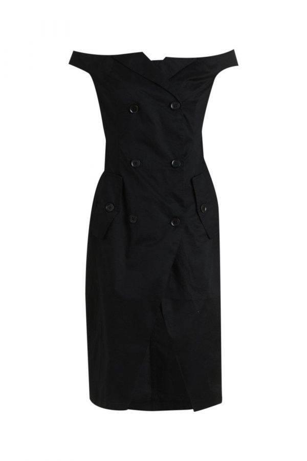 Dress of Scholder Black