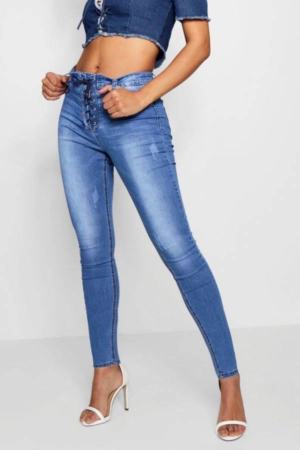 بنطلون جينز ازرق