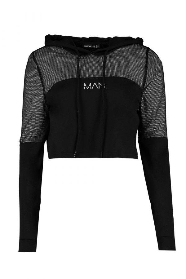 Black hoody with sleeves