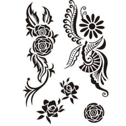 Black tattoos different shapes