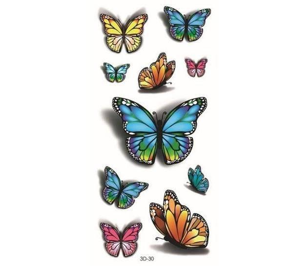 Tatoo colored butterflies