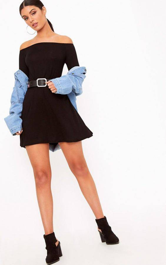 Black Garouleh Short Dress