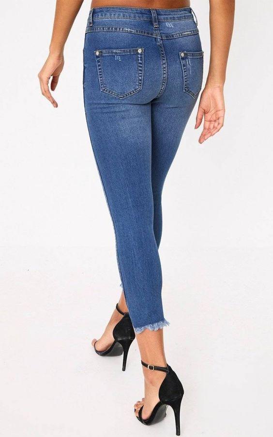سروال جينز ضيق-4