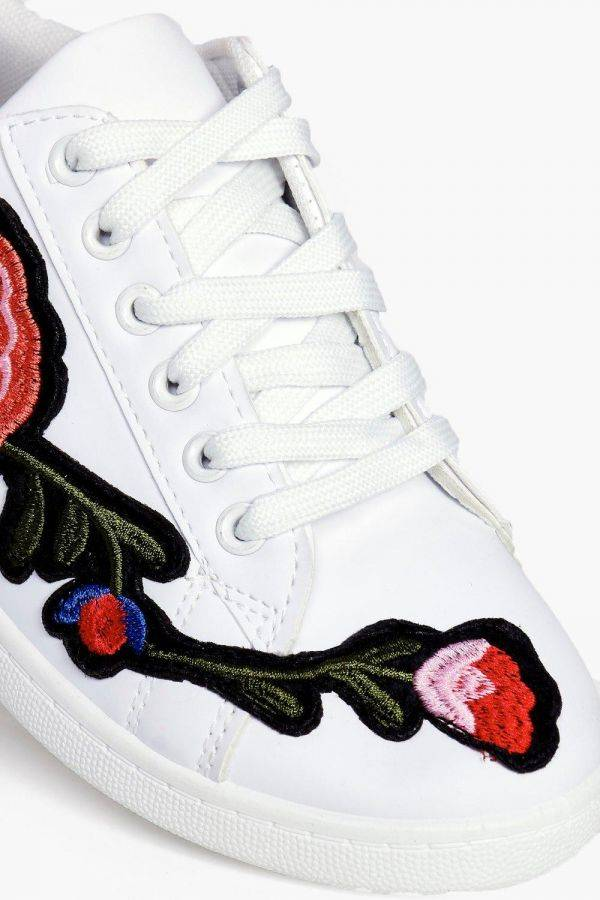 حذاء جيسيكا ابيض مطرز-4