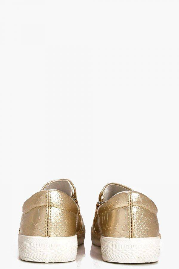 Golden Violet Spaghetti Shoes