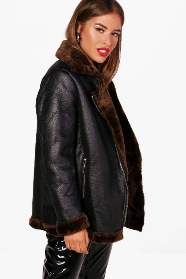 Jacket leather pilot