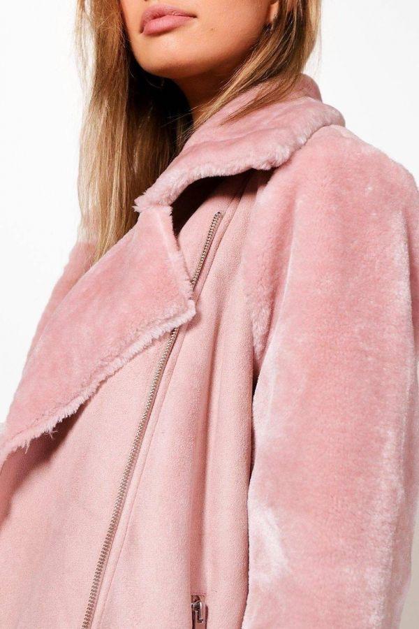 Pink Fur Jacket