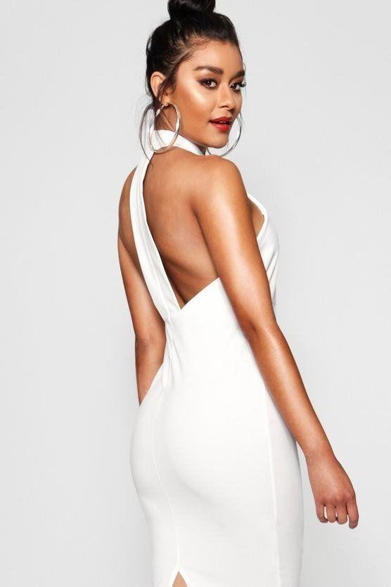 White Dress Medium Length