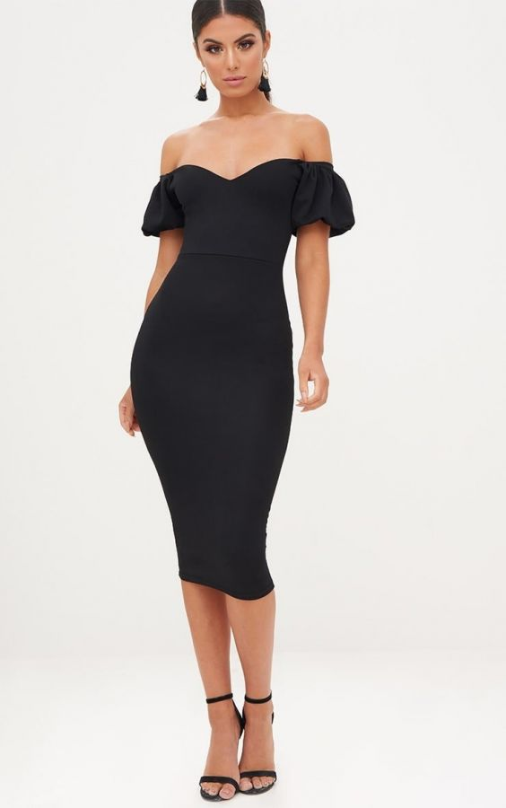 Dress Medium Length Black