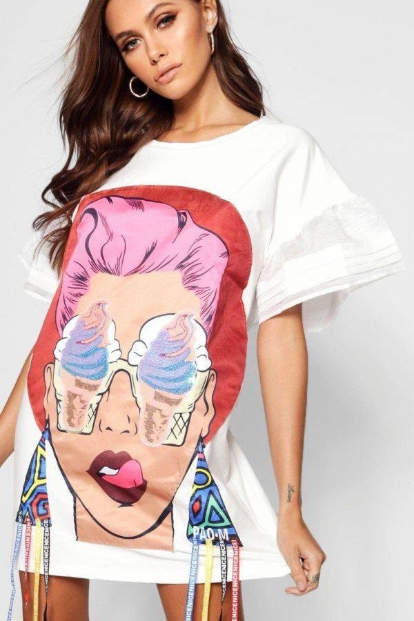 T-Shirt Colorful Dress