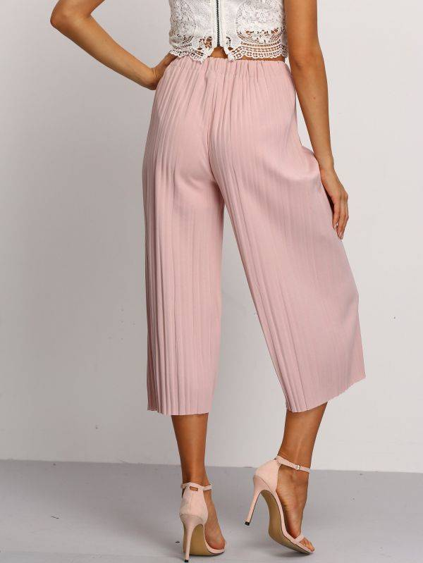 Pants pink waist elastic