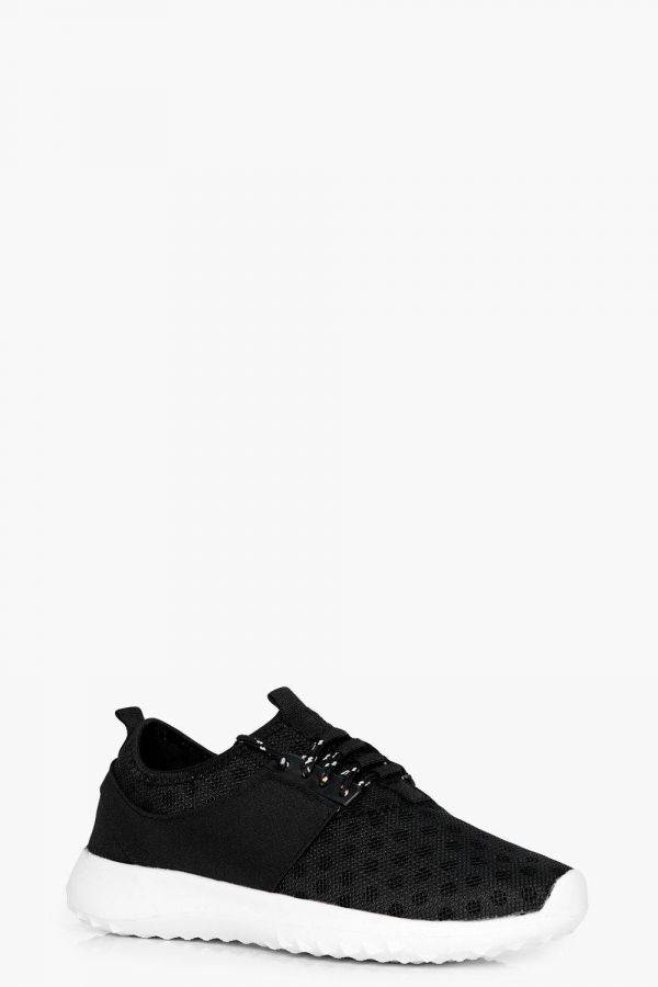 Women sport shoes dotted