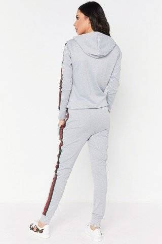 Gray sportswear with two lines