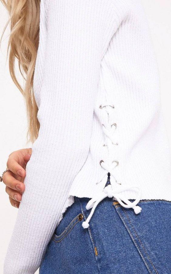 White Striped Sweaters