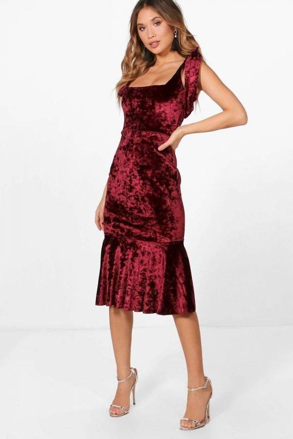 Very thin velvet dress