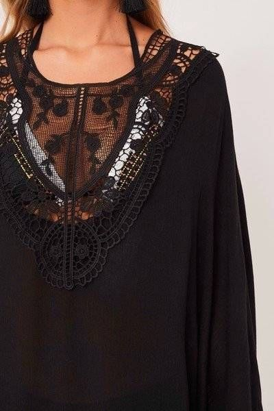 Short black sea dress