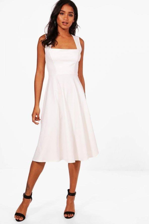 فستان متوسط الطول اسود