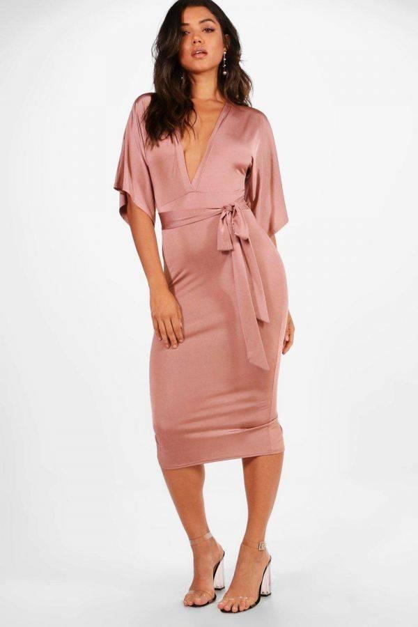 Dress Pink Medium Length Bohoo