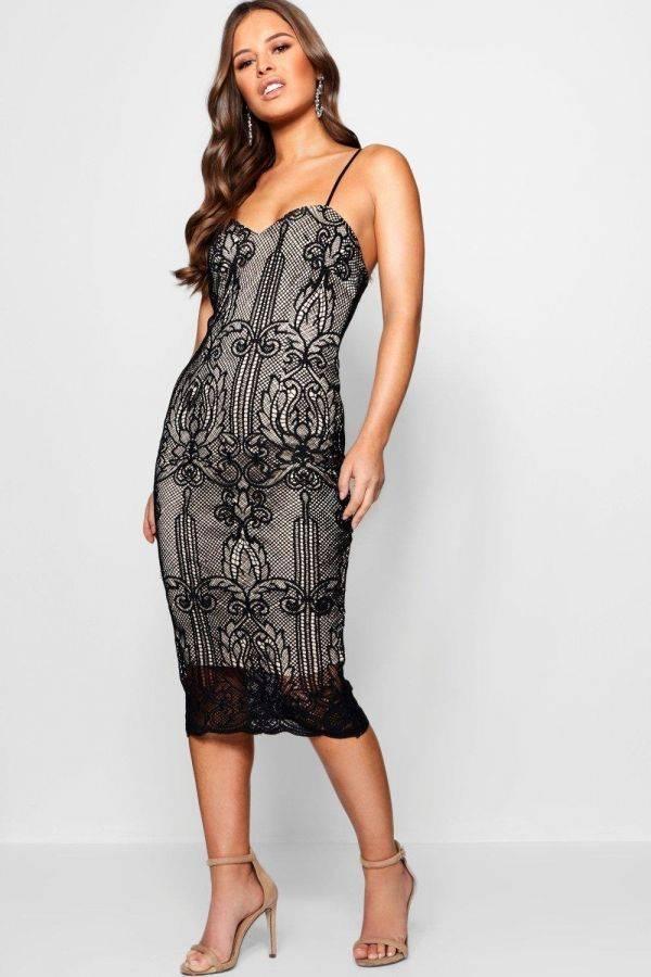 Black Dress Medium Length