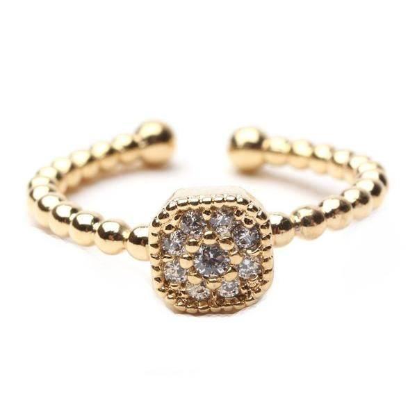 Zircon ring soft square shape