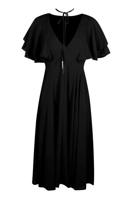 فستان وردي متوسط الطول-6