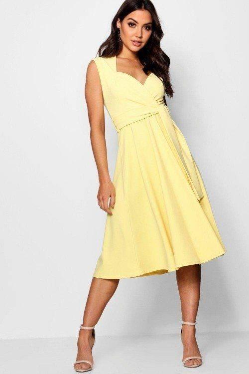 فستان ميدي بلاونج تي ويست ماركة بوهو