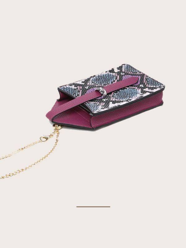حقيبة جوال جلد ثعبان-7