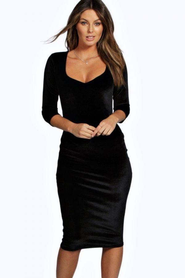 Dress Medium Velvet Length