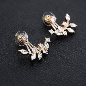 Zirconia Tri Double Earring