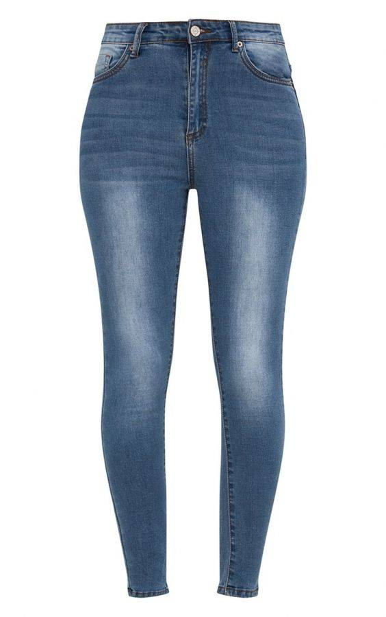 بنطلون جينز بخصر مرتفع-3