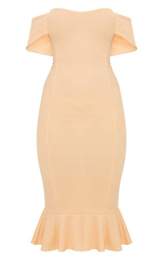 فستان اوف شولدر متوسط الطول-9