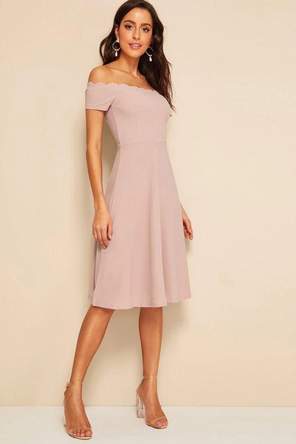 Midi dress or shoulders