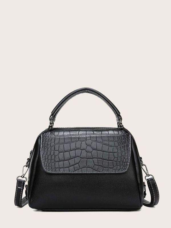 engraved leather bag