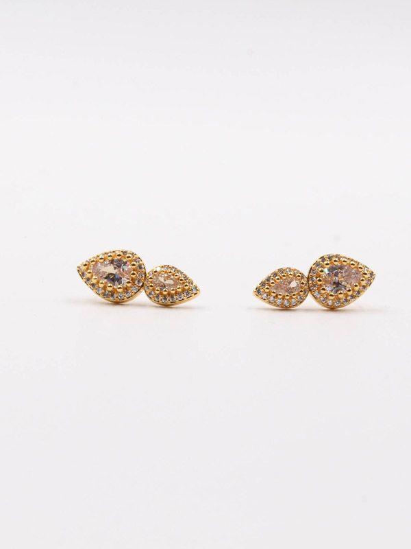 Two tears zircon earring