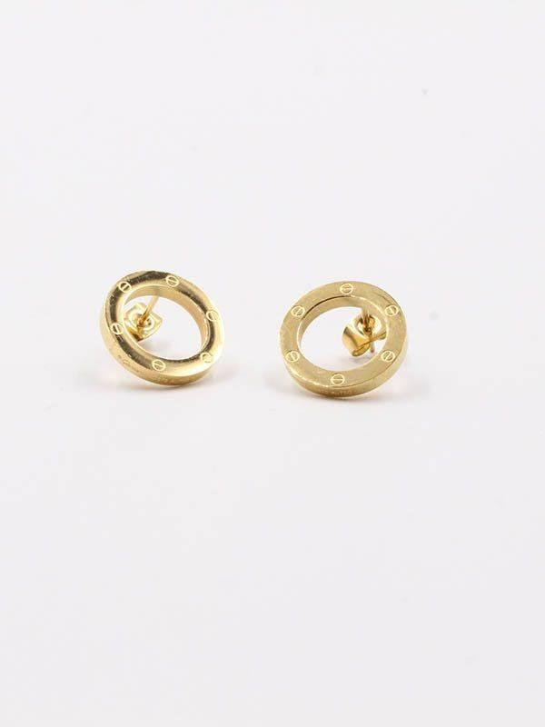 Cartier metal round earring