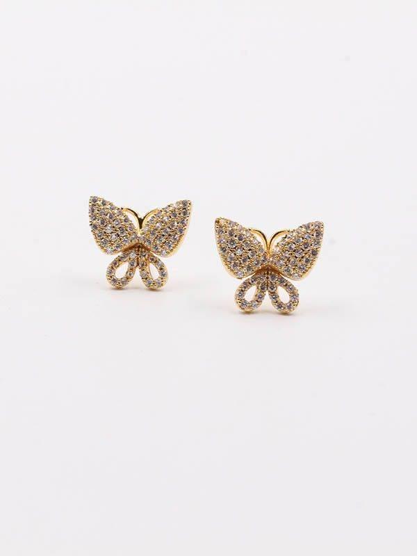 zircon butterfly earring