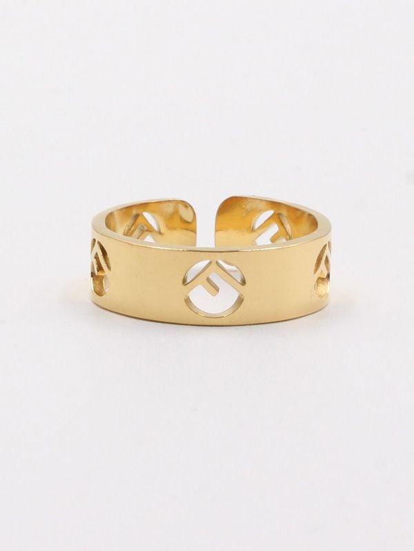 fendi gold ring