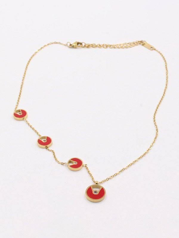 Round colored Bvlgari necklace