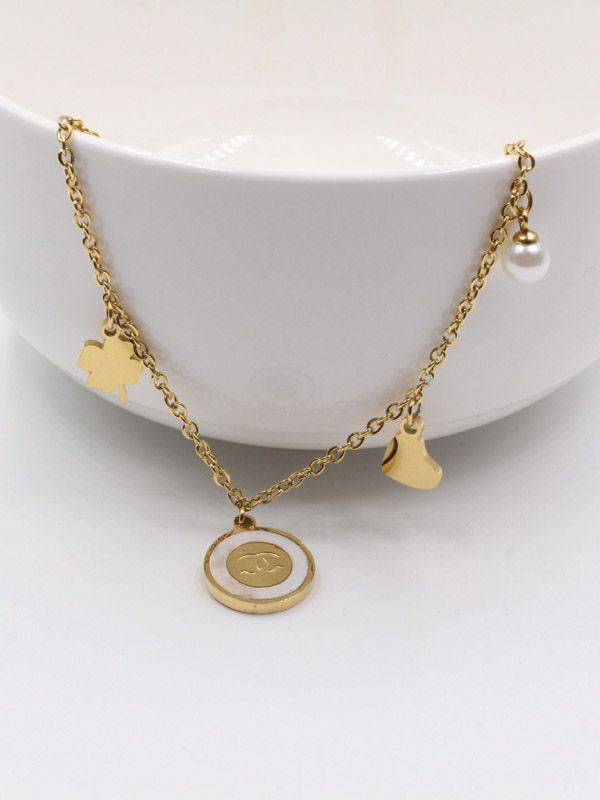 Chanel Shell Stone Anklet
