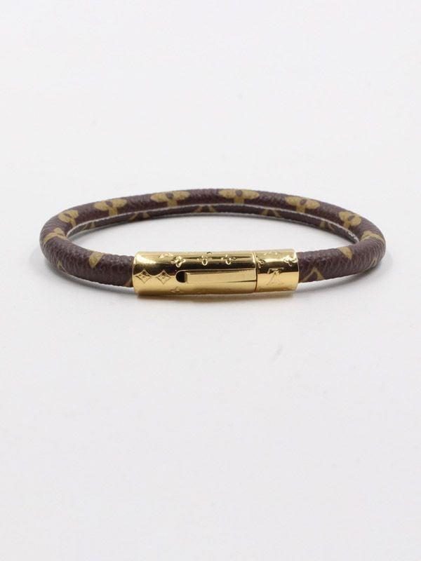 Bracelet Al in brown leather