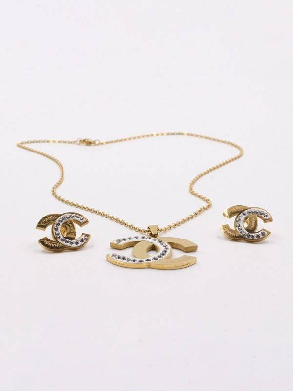 Chanel Crystal Silver Set