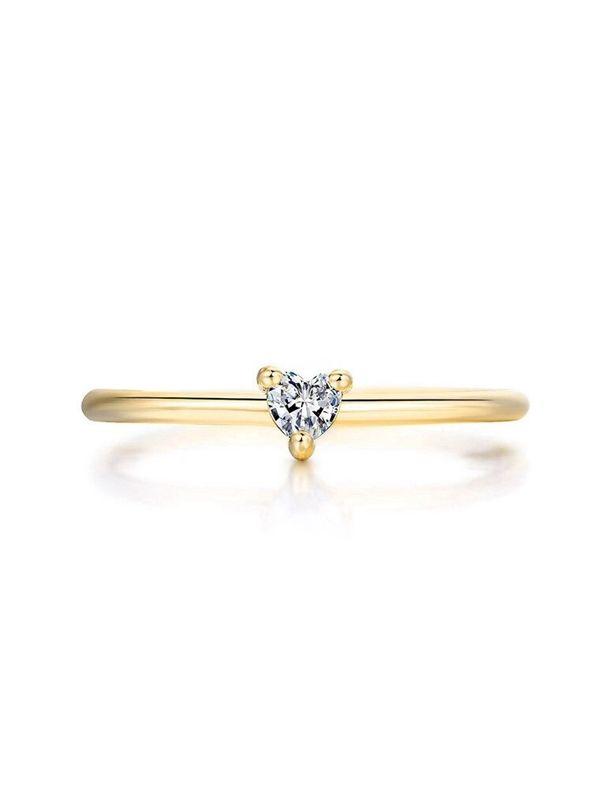 zircon soft heart ring