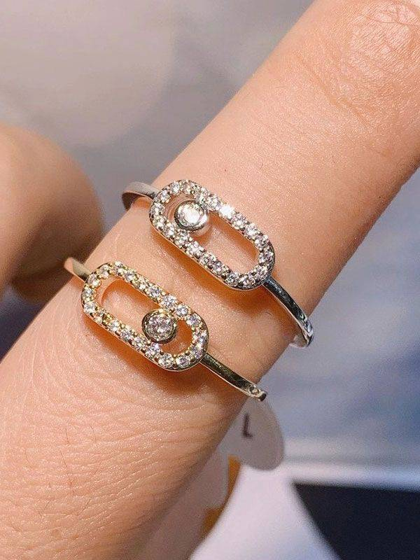 Messika soft cubic zirconia ring