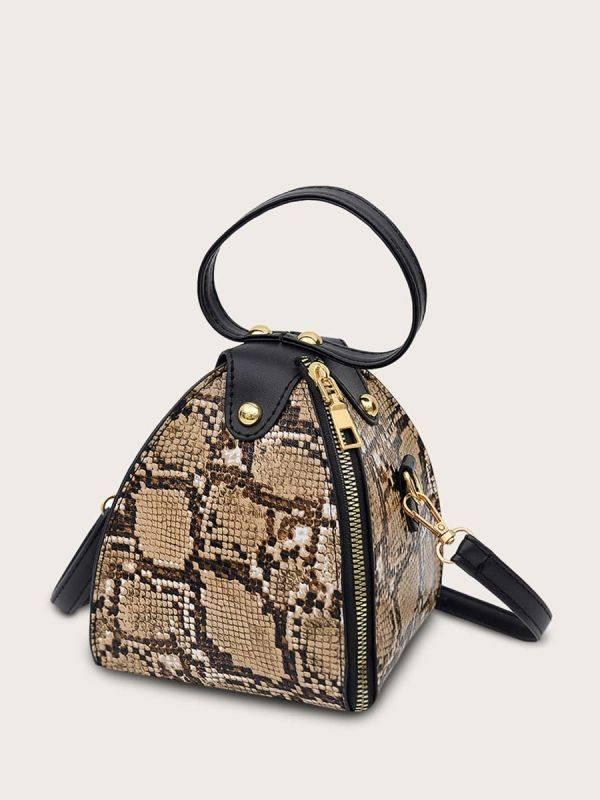حقيبة بيرميد بجلد ثعبان