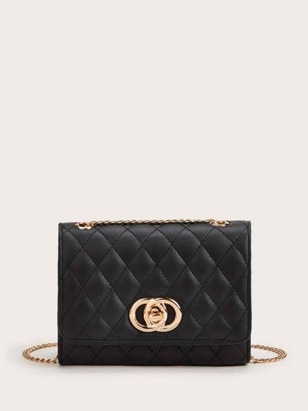 Black squares bag