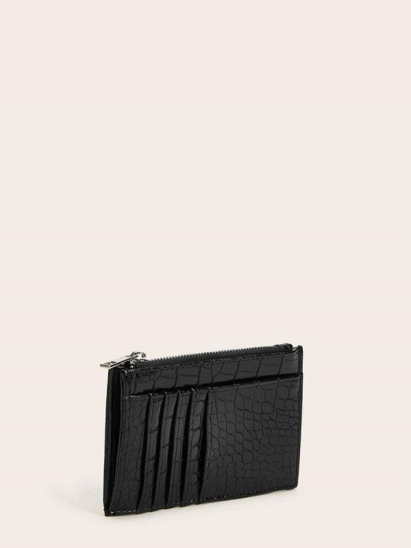 Women crocodile leather wallet with card holder